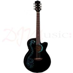 Luna Fauna Dragon Acoustic Guitar - For the player who's ready to make an unforgettable musical statement.