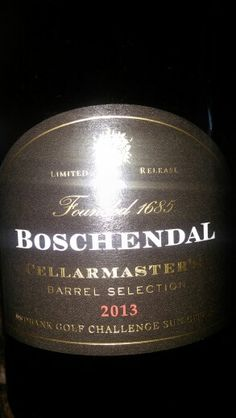 Boschendal Cellarmaster Barrel Selection Stellenbosch 2013 Limited Edition Magnum made for Nedbank Golf Challenge Sun City 90 Points Sommelier #MiguelChan #SouthAfrica #Wine