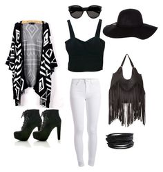 """""""Black&White???"""" by wonderland333 ❤ liked on Polyvore featuring moda, Pieces, Charlotte Russe, Dorothy Perkins e Yves Saint Laurent"""
