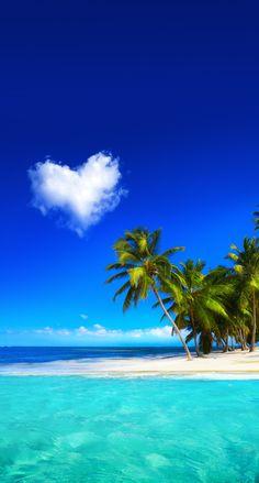 Beach sea ocean heart cloud Beautiful Nature Wallpaper, Beautiful Landscapes, Beautiful Wall, Trees Beautiful, Beautiful Mind, Animals Beautiful, Ocean Wallpaper, Desktop Wallpapers, Animal Wallpaper