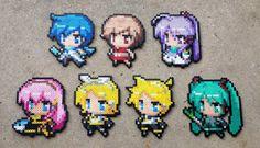 Chibi Vocaloids - Vocaloid Perler Bead Sprites