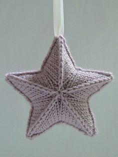 knitted star pattern Stjärna by Karolina Eckerdal.