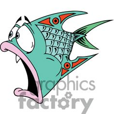 Royalty-Free a red green and pink liped fish Clipart Image ...