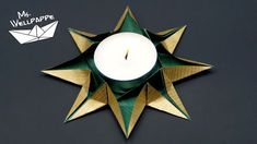 How to make an Origami Star Candle Holder - Paper Stars Tutorial Easy Origami Star, Origami Simple, Cute Origami, Origami Ball, Useful Origami, Origami Stars, Origami Paper, 3d Origami Stern, Star Lanterns