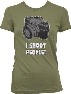 Amazon.com: I Shoot People Girls T-shirt, Funny Girls Shirts: Clothing