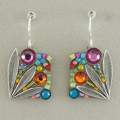 Firefly Signature Intricate Petite Mosaic Earrings - Multicolor