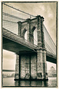 Brooklyn bridge blueprint vintage new york brooklyn bridge bridge photograph brooklyn bridge sepia by jessica jenney malvernweather Images