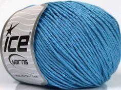 Bahar - Yaz İplikleri Yazlık İplikler Pamuk Bambu Natural Yarn Double Knitting Mavi  İçerik 60% Bambu 40% Pamuk Brand Ice Yarns Blue fnt2-50551 Green And Grey, Mint Green, Ice Yarns, Bamboo Light, Indigo Blue, Light Blue, Cotton, Fiber, Salmon