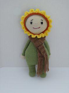 Baby Doll, Amigurumi Doll, Sunflower Doll, Crochet Sunflower Doll, Handmade Baby Doll, Sunflower Baby, Crochet Toy, Cute Gift for Baby/Kid by AlexsGiftShop on Etsy