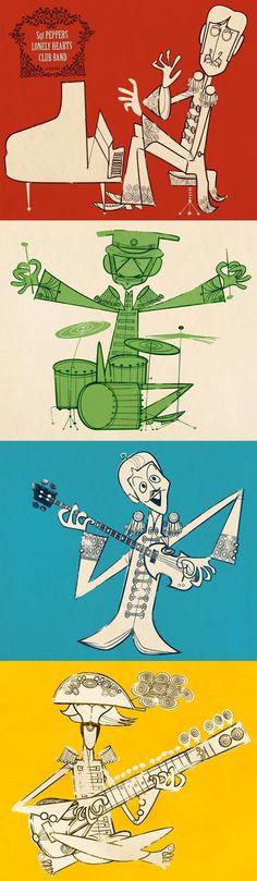 Jonas Bergstrand | Illustrators | Central Illustration Agency - The Beatles…