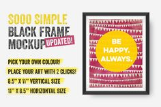 a170ae3f4b6 Sooo Simple Black Frame Mockup by Frisk Shop on Creative Market Business  Card Mock Up