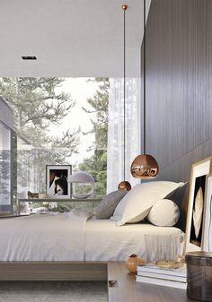 Villa Bosund - sisustussuunnittelua 3D-kuviin - Pihkala