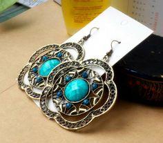 Women's fashionable archaize cz earring jewelry eh5-lan