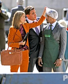 Rose Byrne and real-life boyfriend Bobby Cannavale filmed the Annie remake with Jamie Foxx in Brooklyn Oct. 1.
