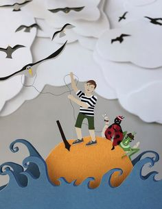 3D Illustrations for Classic Children's Books - James and the Giant Peach