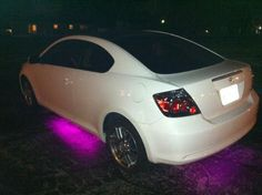 scion tc with pink exterior and interior LEDs I want this in so many ways Scion Tc Accessories, Tc Cars, Pink Rims, Girly Car, Lifted Chevy Trucks, Car Goals, Dream Cars, Dream Auto, Car Tuning