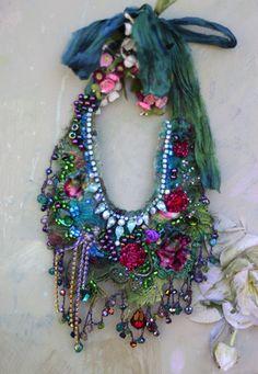 RESERVED Fairy-queen fantasy necklace II bold by FleursBoheme