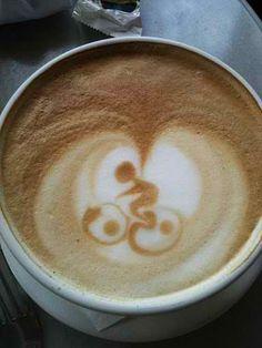 Mountain biker latte