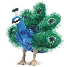 Folkmanis Peacock Hand Puppet, Small