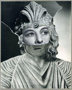 "Doug Stapleton, Chorus Girl, collage on paper, 8 7/8 x 7"" (22 x 18 cm), 2016"