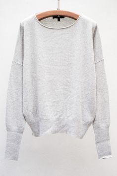 nili lotan | oversized pullover | pearl grey