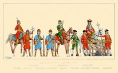 Polish infantry, dragoons, and artillery men