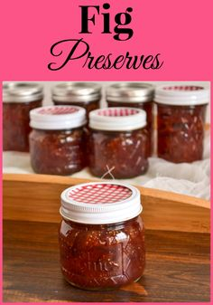 This batch of Homemade Fig Preserves is made with fresh brown turkey figs with are in season right now. Buy the fresh figs now to make a batch and enjoy fig preserves all winter long. Fig Recipes, Jelly Recipes, Canning Recipes, Canning Tips, Cooker Recipes, Fig Preserves Recipe, Homemade Fig Jam, Jalapeno Jelly, Jalapeno Pepper