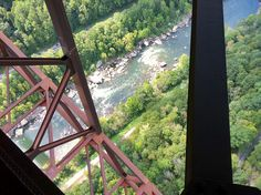 Bridge Walk under the New River Gorge Bridge. This picture was taken 851 feet up over the New River