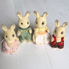 Puppenstuben & -häuser Vintage Sylvanian Families Early Rabbit Grandmother Grandfather