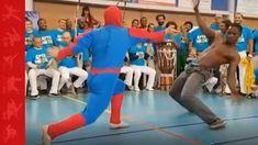 Capoeira with spiderman #martialarts #capoeira #knockout