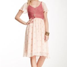 """Selling this """" Free People flowing blush dress."""" in my Poshmark closet! My username is: angelmueller. #shopmycloset #poshmark #fashion #shopping #style #forsale #Free People #Dresses & Skirts"""