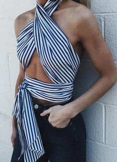 striped scarf top.