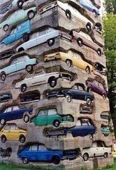 inspirationfeed:  Long Time Parking Sculpture by Arman http://ift.tt/1eVoEpJ