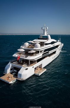 The yacht is Sunrise Yachts' largest ship to date and features four unique outdoor spaces… Yacht Design, Boat Design, Super Yachts, Grand Prix, Luxury Sailing Yachts, Monaco Yacht Show, Cannes, Yacht Interior, Interior Design