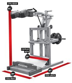 Squat Machine with Calf Blaster - Legend Fitness Weight Lifting Equipment, Home Gym Equipment, No Equipment Workout, Fitness Equipment, Total Gym Workouts, At Home Workouts, Yoga Workouts, Squat Workout, Workout Tanks