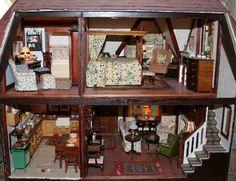 A modern English cottage dolls house.