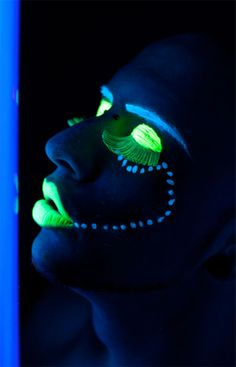 Neon eyes and lips