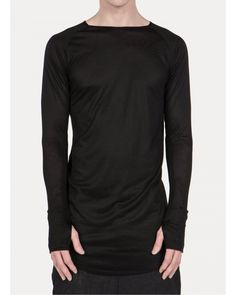Parlay | Black Viscose + Cashmere Gloved Raglan