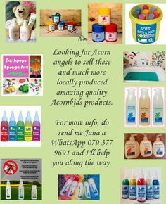 Would you like to become an Acornkids angel? No registration fee, earn commission or free products. Delivery country wide in SA.