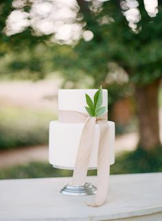 Simple and chic wedding cake | Kacie Lynch Photography | see more on: http://burnettsboards.com/2014/10/sophisticated-vineyard-wedding/