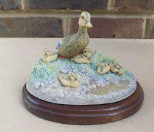 BORDER FINE ARTS Mallard Duck Family Figurine