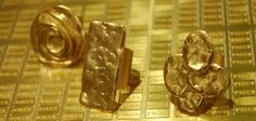 Figus Satin Gold handmade jewellery  Figus Designer