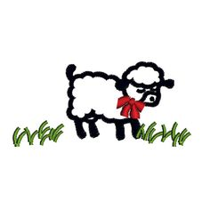 Easter Lamb Spring Field Machine Embroidery Design 4x4in Hoop Instant Download