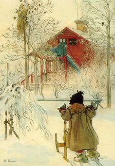 Complete Works Of Carl Larsson | carl larsson tyttoe ja kelkka jpg carl larsson 1853 1919 detail carl ...