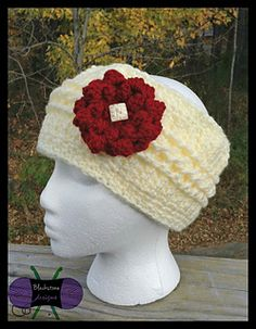 Chilly cables headwrap crochet pattern by Blackstone Designs