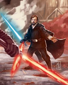 STAR WARS - the last Jedi' fanart. I decided to draw master Luke Skywalker in one of my favorite scenes from this awesome new movie. I had a real good time drawing this, Luke has always been a hero for me. And May the Force be with Star Wars Film, Star Wars Fan Art, Star Wars Poster, Star Trek, Star Wars Jokes, Star Wars Facts, Star Wars History, Star Wars Personajes, Starwars