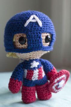 Captain America Pattern by Savvy (Fuwa Fuwa Studio)