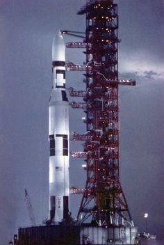 Skylab 1 and the last Saturn 5 rocket, May 13, 1973   Flickr - Photo Sharing!