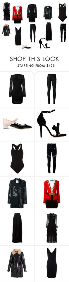 """""""creative"""" by emmamegan-5678 ❤ liked on Polyvore featuring Balmain, DRKSHDW, Valentino, Isa Tapia, Michael Kors, Givenchy, Moschino, Elie Saab, Zimmermann and Shrimps"""