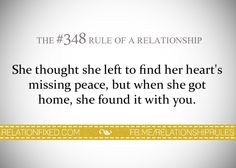 The #348 Rule of a Relationship